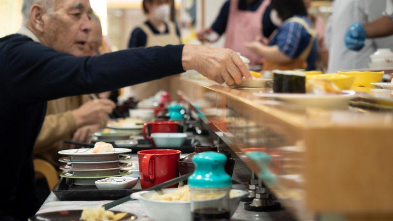 志摩豊和苑で回転寿司を行いました!