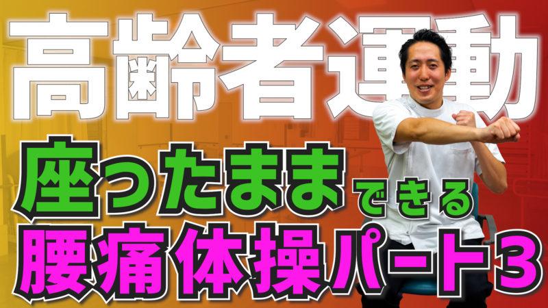 【高齢者運動#38】座ったままできる腰痛体操パート3